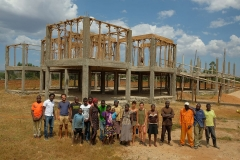Permaculture school (under constrution) in upendo (peace) garden 2